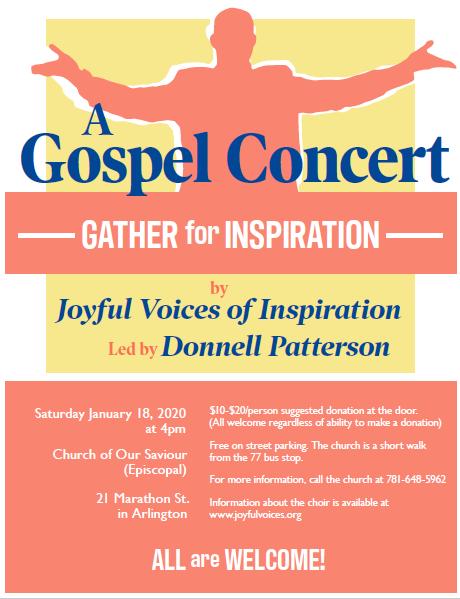 COS Gospel Concert Flyer 2020